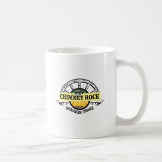 het gele art. van de schoorsteenrots koffiemok