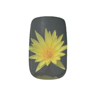 Het gele Art. van de Spijker van Lotus Waterlily Minx Nail Folie