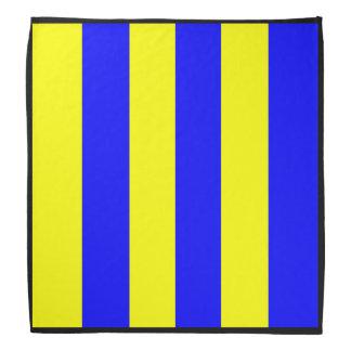 Het Gele Blauw van het golf Bandana