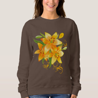 Het gele Donkere Sweatshirt van Lelies
