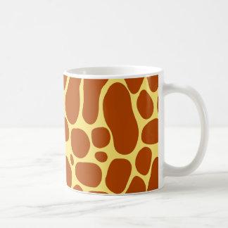 Het gele en Bruine Patroon van de Giraf Koffiemok