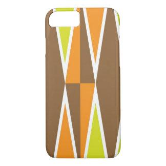 Het gele en Oranje Patroon van de Diamant iPhone 7 Hoesje