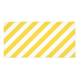 Het gele en Witte Diagonale Patroon van Strepen Kaart