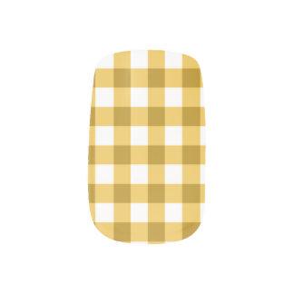 Het gele en Witte Patroon van de Controle van de Minx Nail Folie