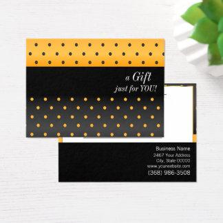 Het gele en Zwarte Certificaat van de Gift van het Visitekaartjes