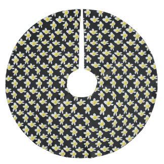 Het gele en Zwarte Patroon van de Bloem Kerstboom Rok