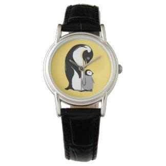 Het Gele en Zwarte Polshorloge van pinguïnen