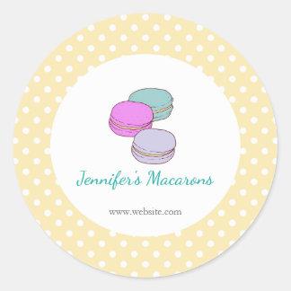 Het gele Etiket van het Product van Macaron van