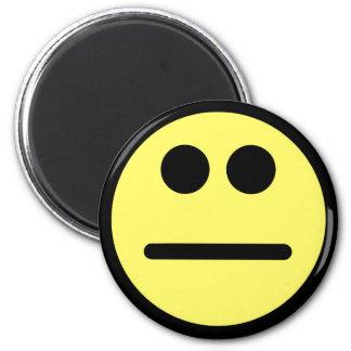 Het gele Gezicht van de Pook staart Gezicht Smiley Ronde Magneet 5,7 Cm