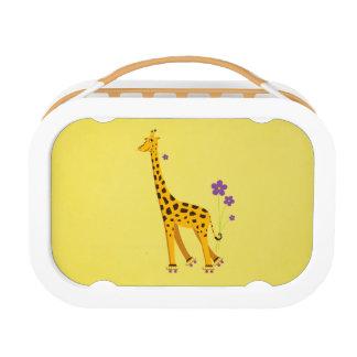 Het gele Grappige Schaatsen van de Rol van de Gira Lunchbox