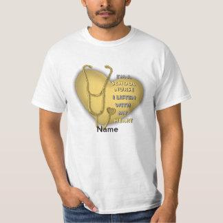 Het Gele Hart van de Verpleegster van de school Shirts