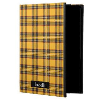 Het gele Hoesje van de Lucht van de Plaid iPad iPad Air Hoesje