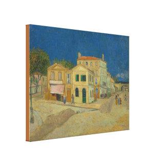 Het gele Huis door Vincent van Gogh Canvas Afdruk