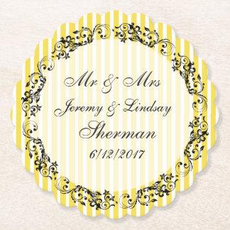 Het gele Huwelijk Gepersonaliseerde Onderzetter