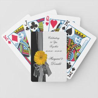 Het gele Huwelijk van de Stippen van Daisy Black Poker Kaarten