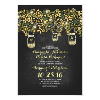 het gele huwelijk van het de kruiken bloemenbord 12,7x17,8 uitnodiging kaart