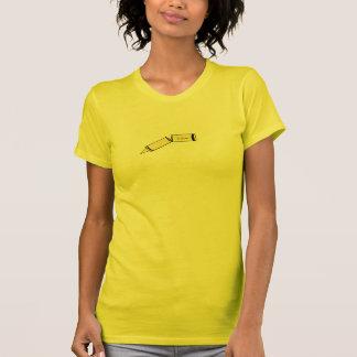 Het gele kleurpotlood van de wilg t shirt