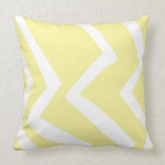 Het gele Kunstwerk van het Patroon van het Ontwerp Kussen
