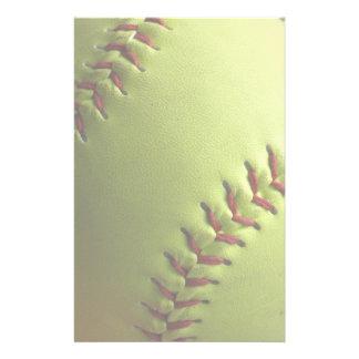 Het gele Licht van het Softball Briefpapier