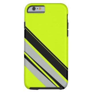 Het Gele Limoen Zwarte Sportieve CricketDiane van Tough iPhone 6 Hoesje