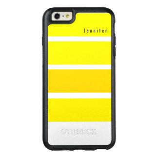 Het gele Monogram van de Tinten van de Citroen OtterBox iPhone 6/6s Plus Hoesje