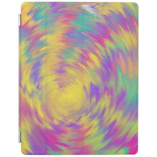 Het gele Paarse Roze Spiraalvormige Abstracte iPad Cover
