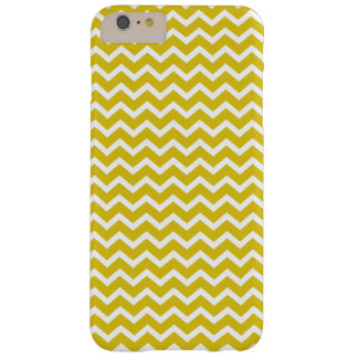 Het gele Patroon van Chevrons Barely There iPhone 6 Plus Hoesje