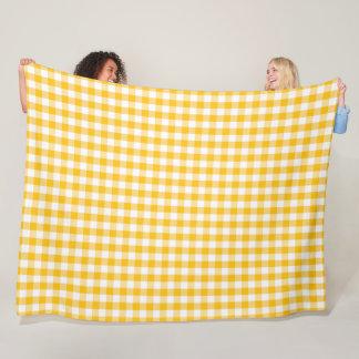 Het gele Patroon van de Controle van de Gingang Fleece Deken