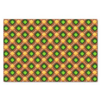 Het gele Patroon van de Gem Tissuepapier