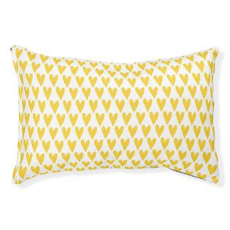Het gele Patroon van Harten Hondenbedden