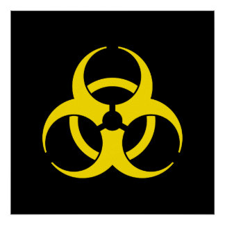 Het gele Poster van het Symbool Biohazard