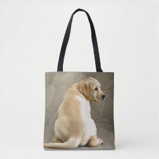 Het gele Puppy van de Labrador Draagtas