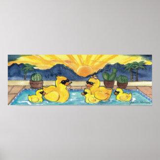 Het gele RubberPoster van de Pool van de Vakantie Poster