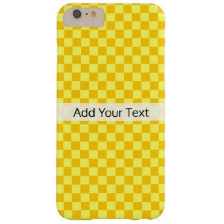 Het gele Schaakbord van de Combinatie door Barely There iPhone 6 Plus Hoesje