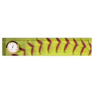 Het Gele Softball van het neon Naambord