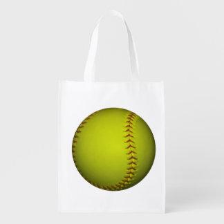 Het Gele Softball van het neon Shoppers