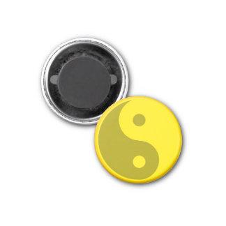 Het gele Symbool van de Energiebalans van Yin Yang Ronde Magneet 3,2 Cm