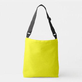 Het gele Varende Mariene Patroon van de Brief Q Crossbody Tas
