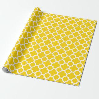Het gele Verpakkende Document van het Patroon van Inpakpapier