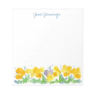 Het gele Viooltje bloeit het BloemenArt. van de Notitieblok