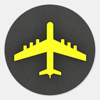 Het Gele Vliegtuig van de kanarie Sticker
