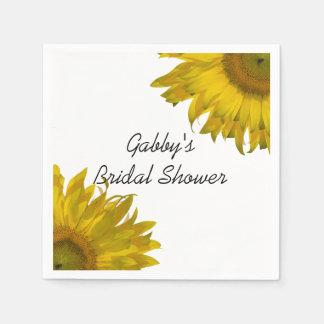 Het gele Vrijgezellenfeest van Zonnebloemen Papieren Servetten