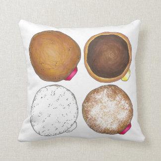 Het gelei Gepoederde Hoofdkussen van de Doughnut Sierkussen