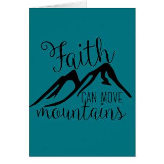 het geloof kan bergen bewegen briefkaarten 0