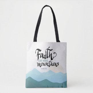 Het geloof kan Bergen helemaal over de Zak van de Draagtas