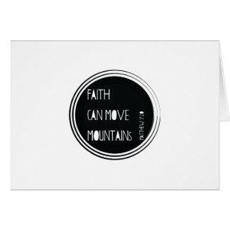 """Het """"geloof kan het vers van de bergen"""" bewegen briefkaarten 0"""
