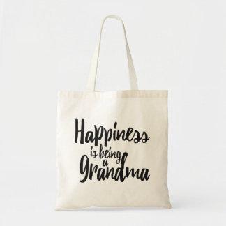 Het geluk is een Oma Draagtas