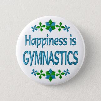 Het geluk is Gymnastiek Ronde Button 5,7 Cm