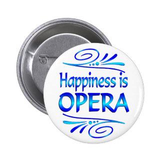 Het geluk is OPERA Ronde Button 5,7 Cm