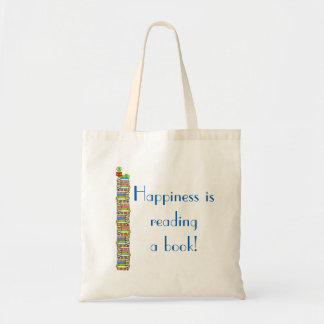 Het geluk leest een Boek Budget Draagtas